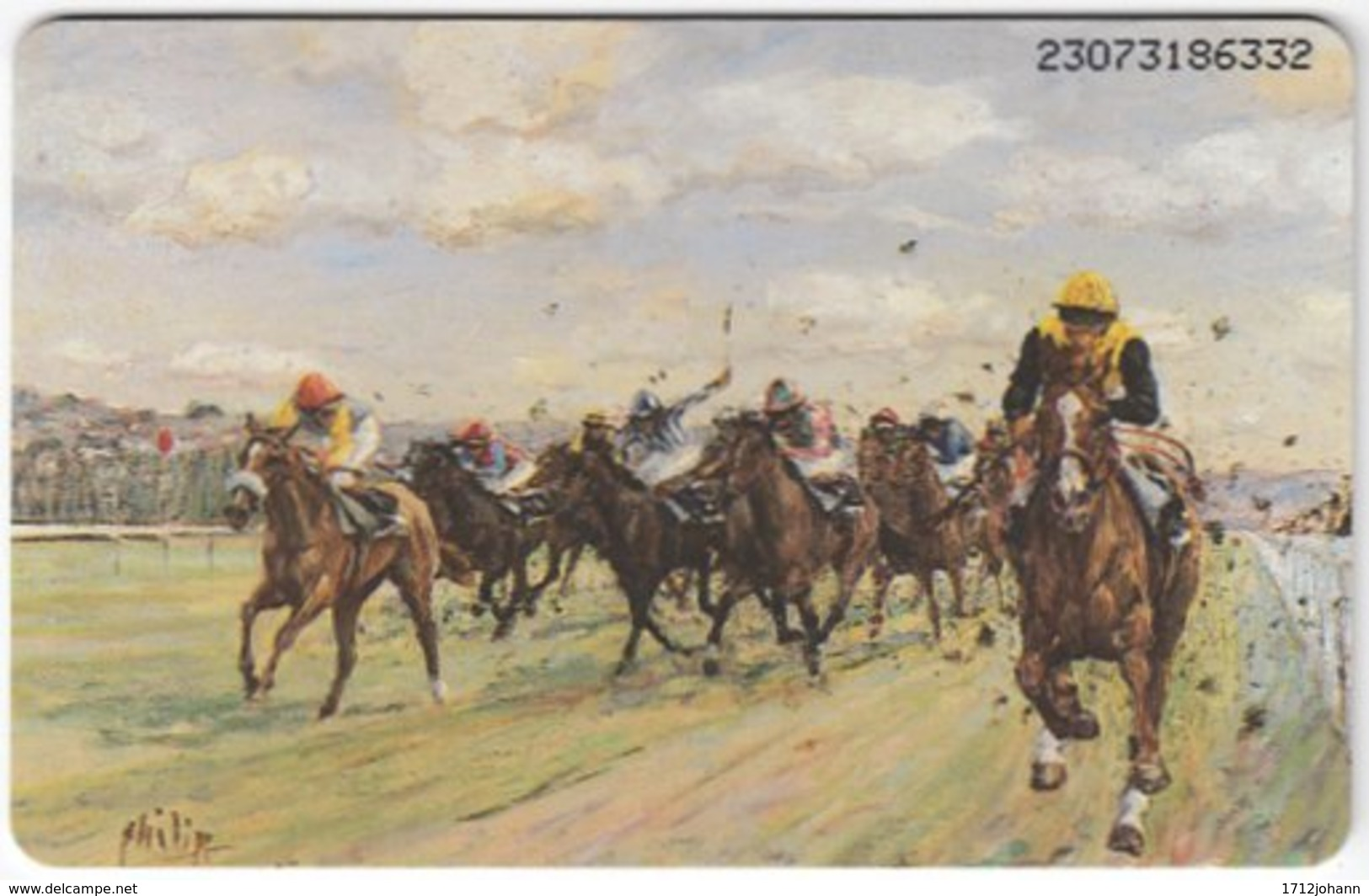 GERMANY K-Serie A-529 - 806 07.93 - Painting, Animal, Horse Race - MINT - Deutschland