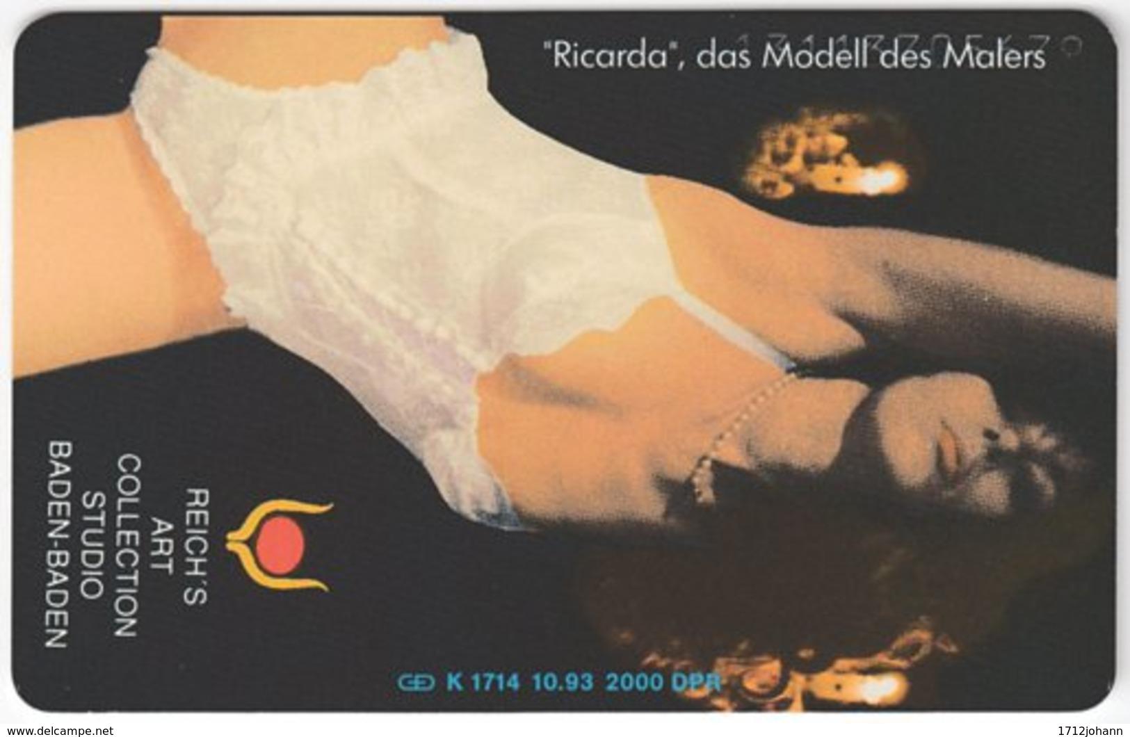 GERMANY K-Serie A-563 - 1714 11.93 - People, Woman, Erotic - MINT - Deutschland
