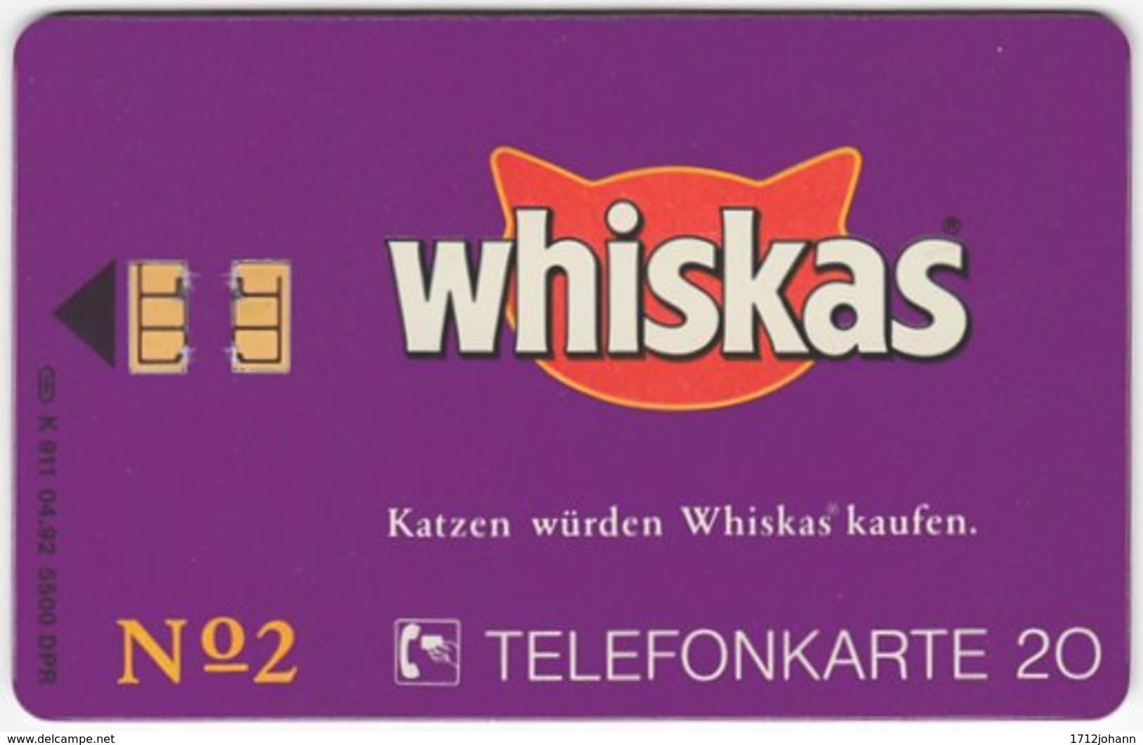 GERMANY K-Serie A-566 - 911 04.92 - Animal, Cat - MINT - Deutschland