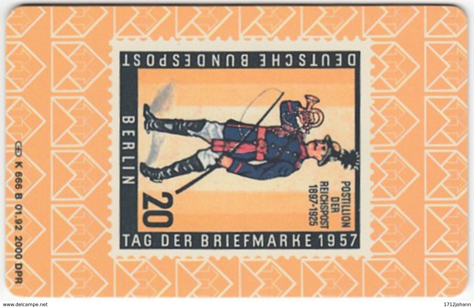 GERMANY K-Serie A-600 - 666B 01.92 - Collection, Stamp - MINT - Deutschland