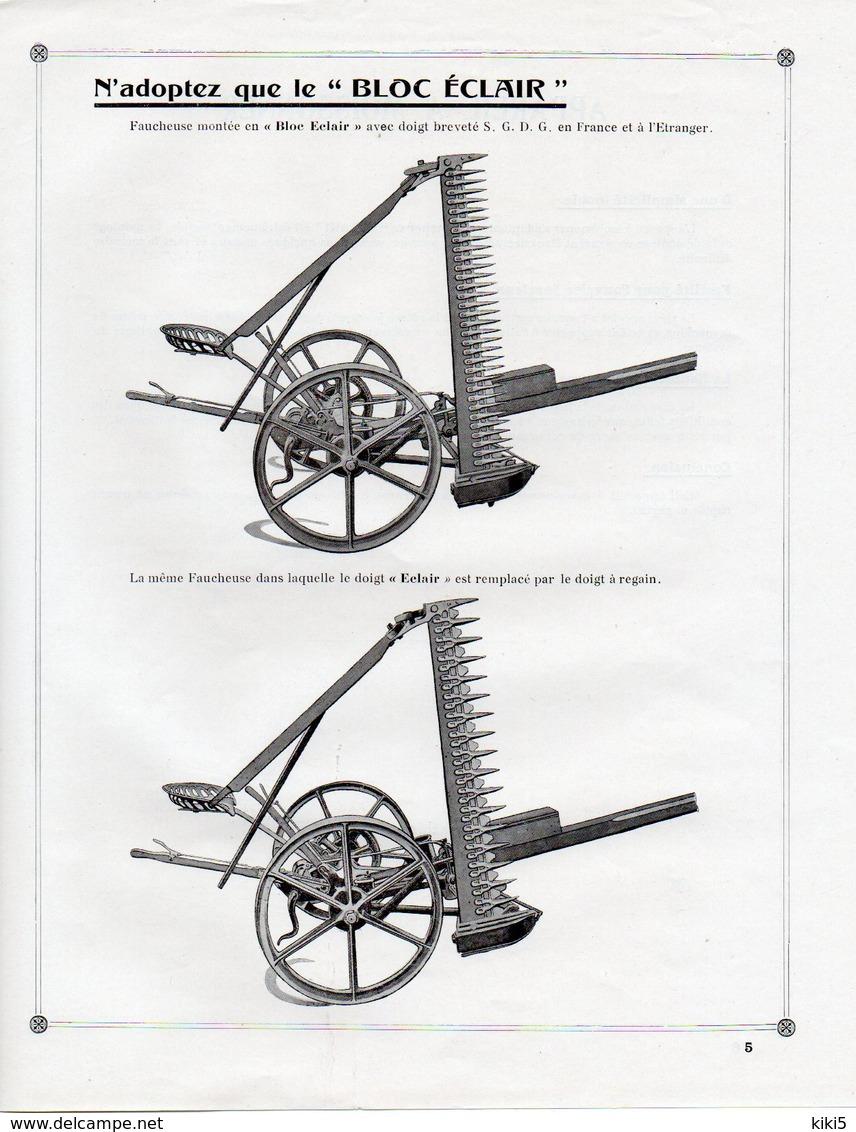 CATALOGUE De MACHINES  AGRICOLES  Début XX° - Machines