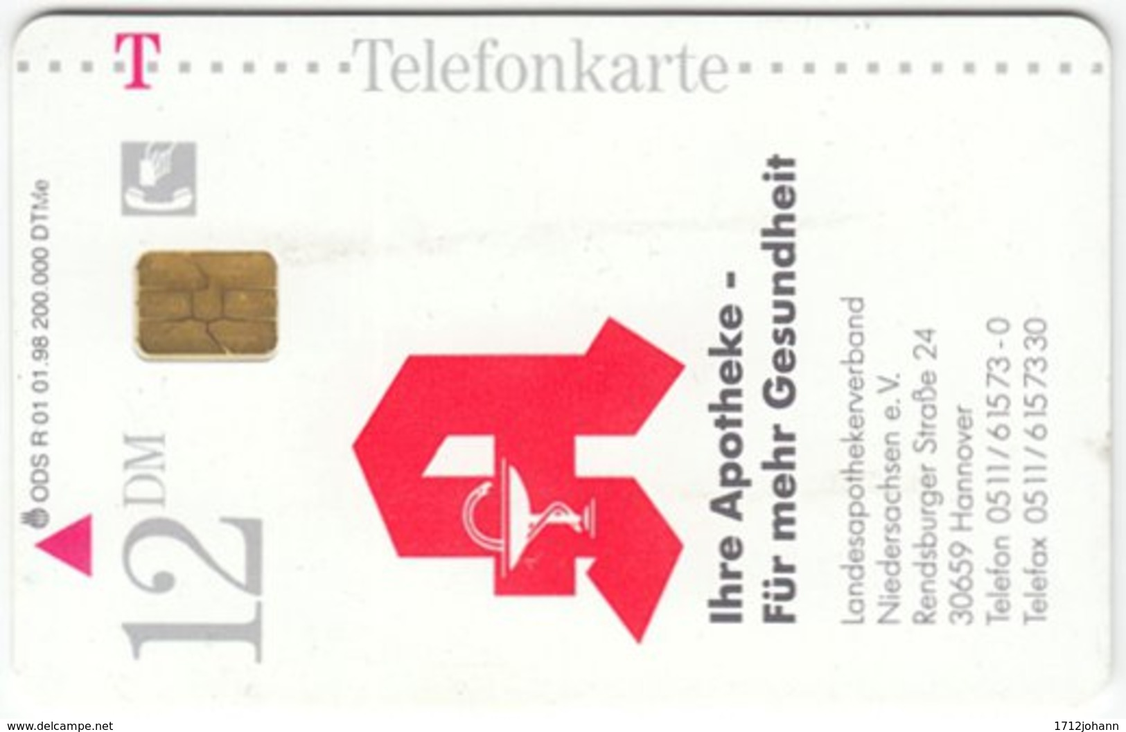 GERMANY R-Serie A-166 - 01 01.98 (2802) - Health, No Drugs - Used - R-Series: Regionale Schalterserie