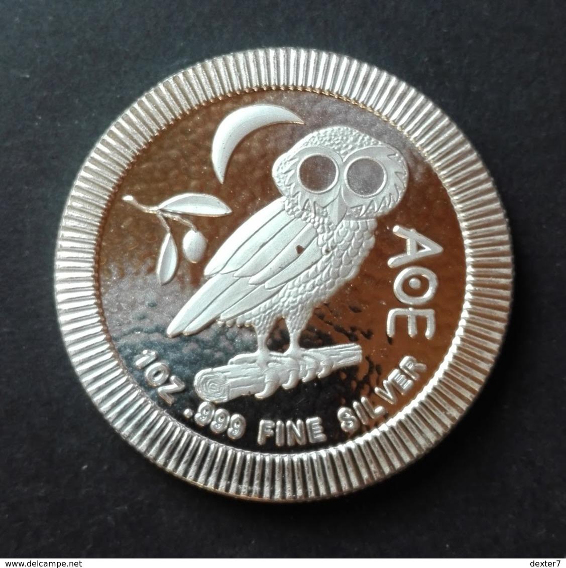 Niue, Athenan Owl 1 Oz 2017 Silver 999 - 1 Oncia Argento Puro Bullion - Niue