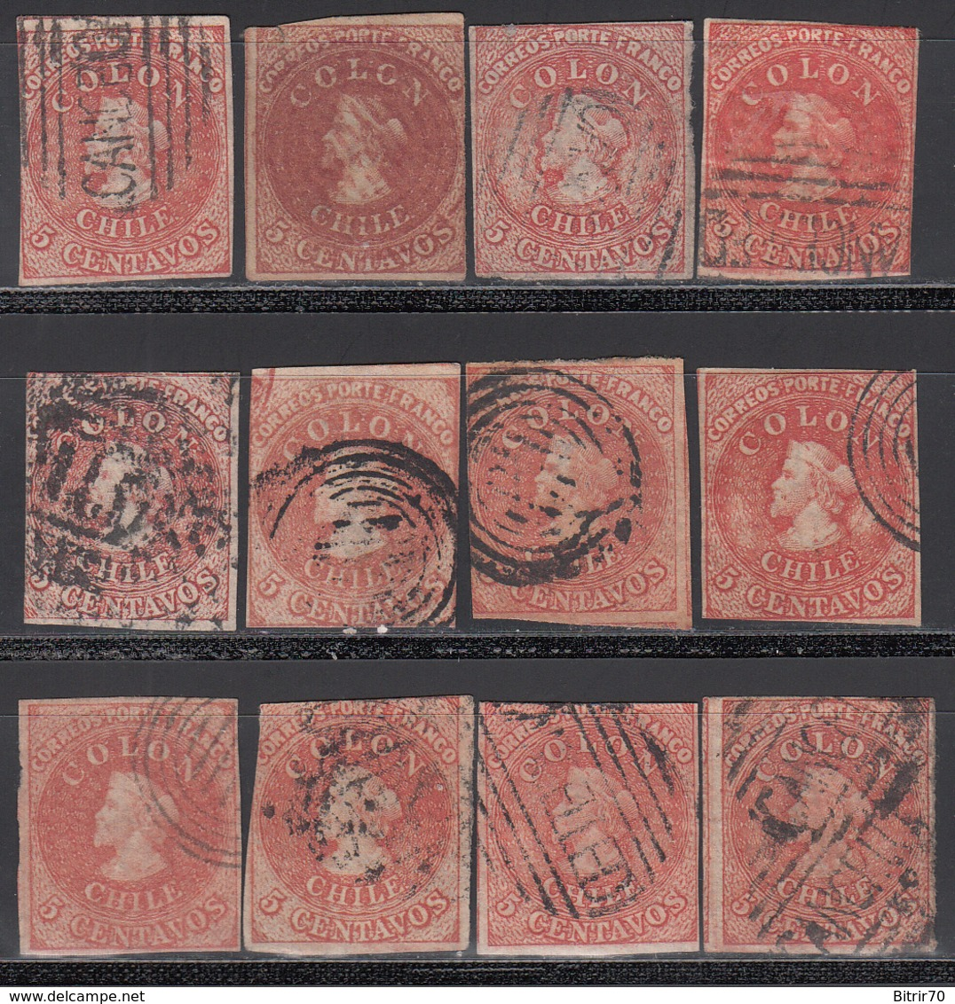 1861-67  Yvert Nº 8 - Chile