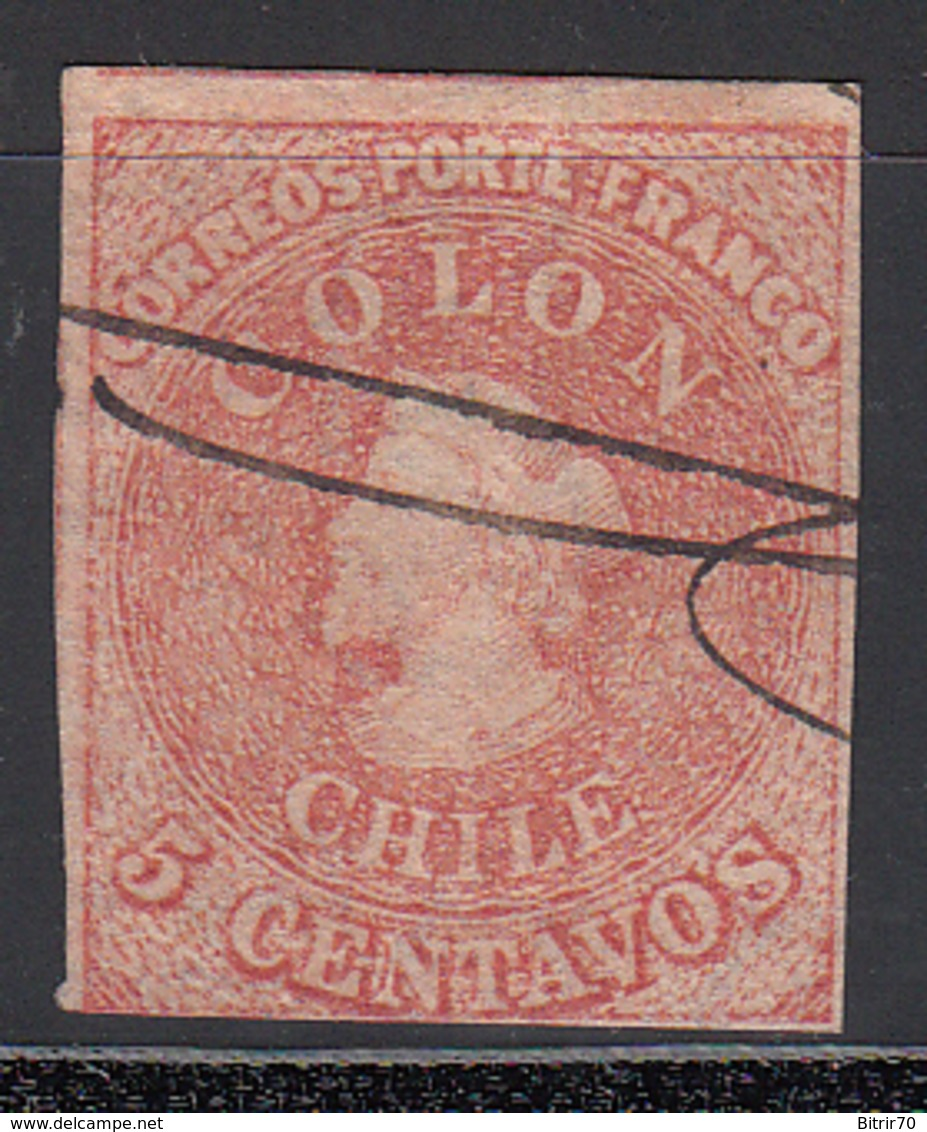 1861-67  Yvert Nº 8, - Chile