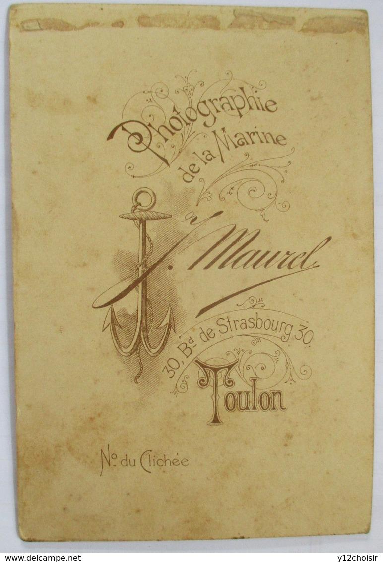 PHOTOGRAPHIE DE LA MARINE NATIONALE J. MAUREL TOULON MARIN DU NAVIRE CUIRASSE LE TRIDENT . ANCRE - Bateaux