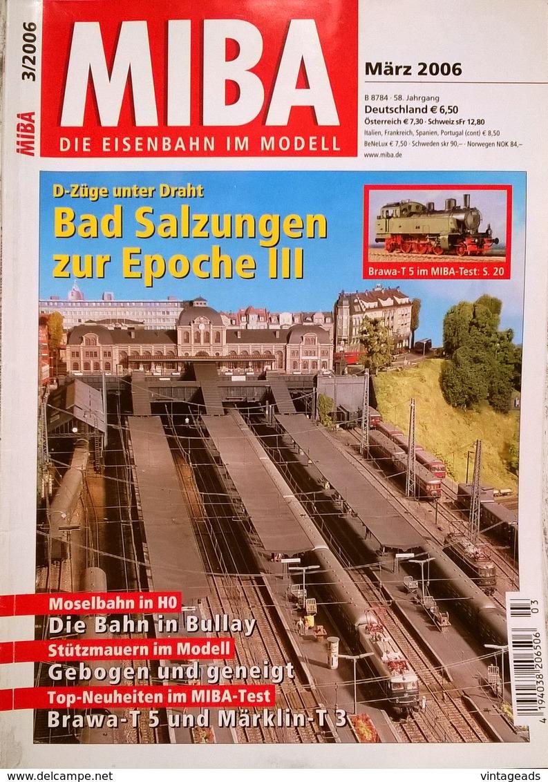 CA064, 6 Stk. Zeitschriften MIBA - Die Eisenbahn Im Modell, 2006/2007 - Hobbies & Collections
