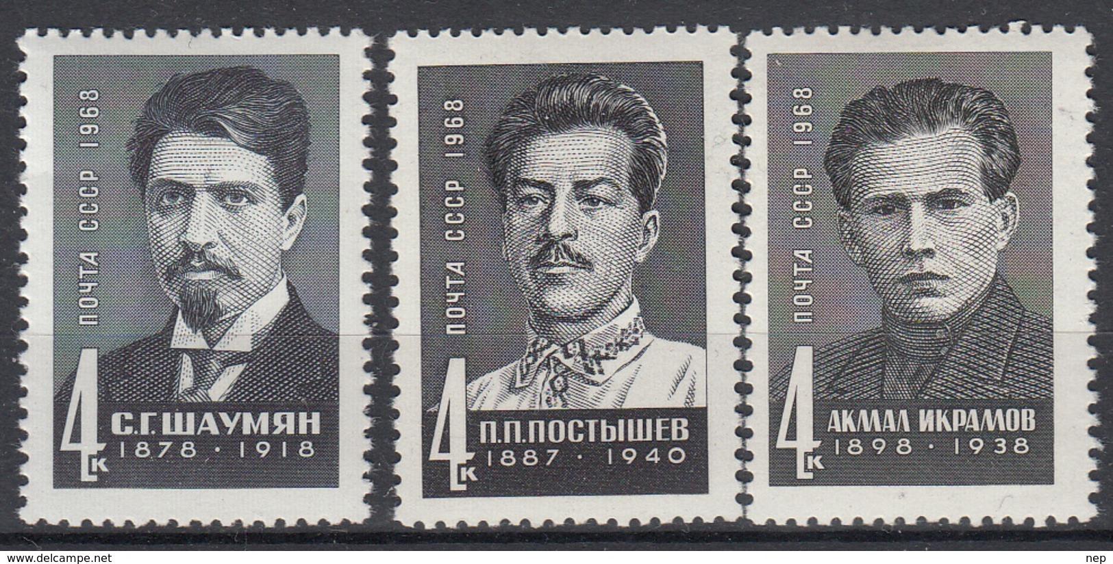 USSR - Michel - 1968 - Nr 3536/38 - MNH** - Ongebruikt