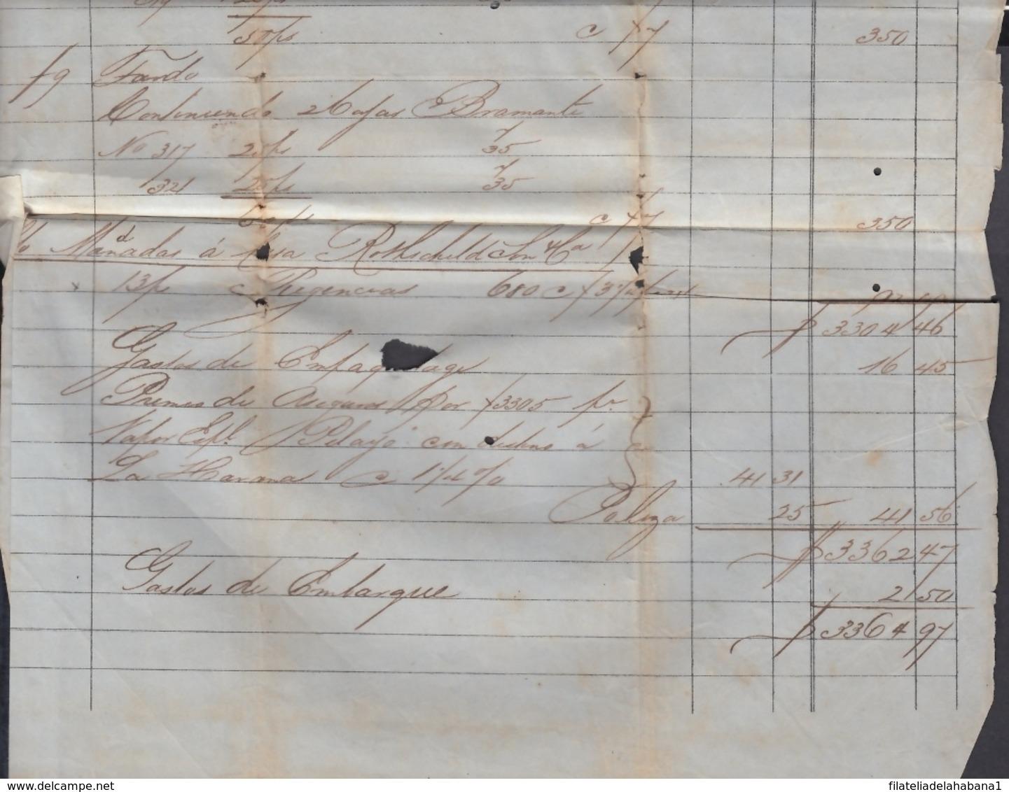 E6280 SAINT THOMAS 1867 INVOICE TO HAVANA CUBA SPAIN. - Documentos Históricos