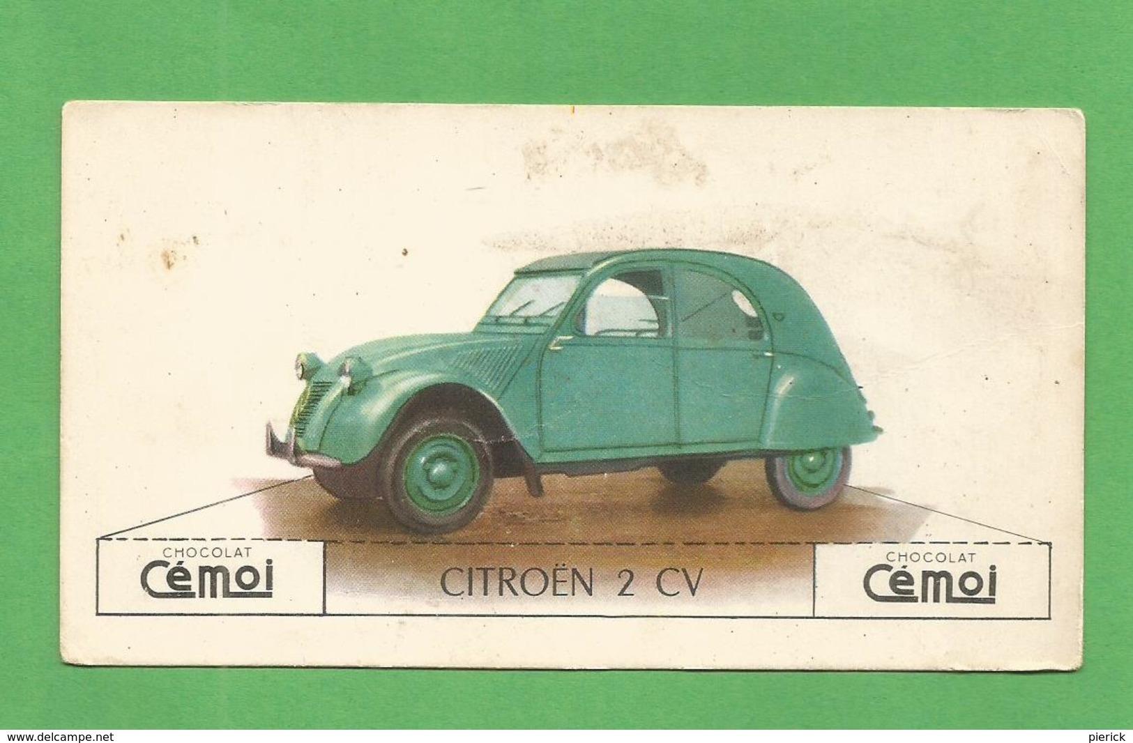IMAGE CHOCOLAT CEMOI AUTO VOITURE VINTAGE WAGEN OLD CAR CARD CITROEN 2 CV - Autres