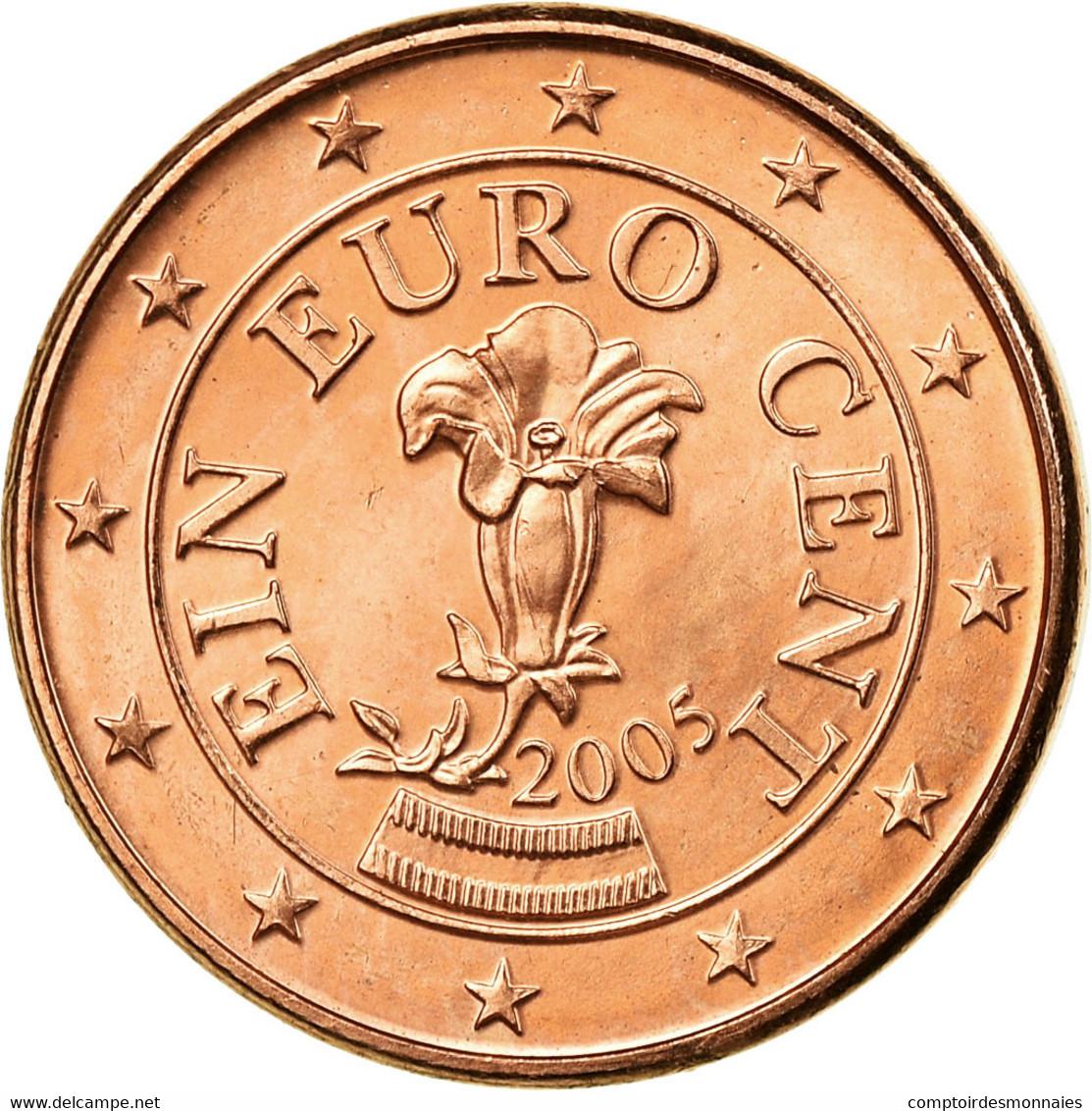 Autriche, Euro Cent, 2005, SUP, Copper Plated Steel, KM:3082 - Autriche