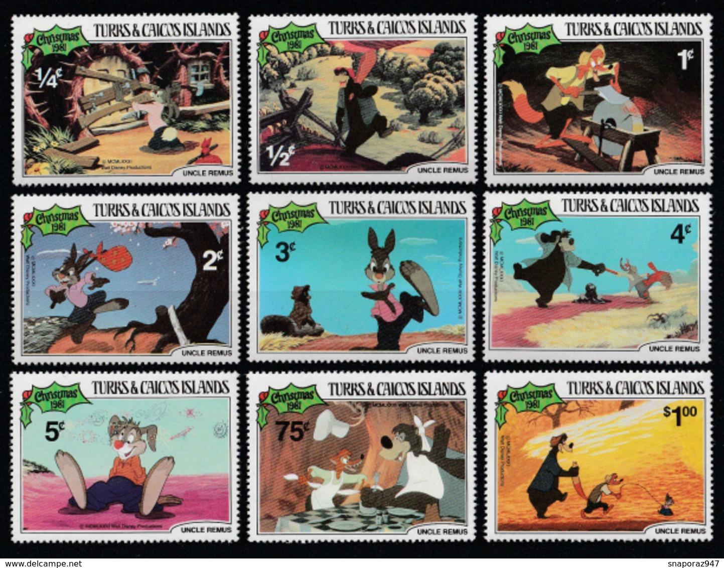 1985 Turks E Caicos Disney Christmas MNH** Ye2 - Disney