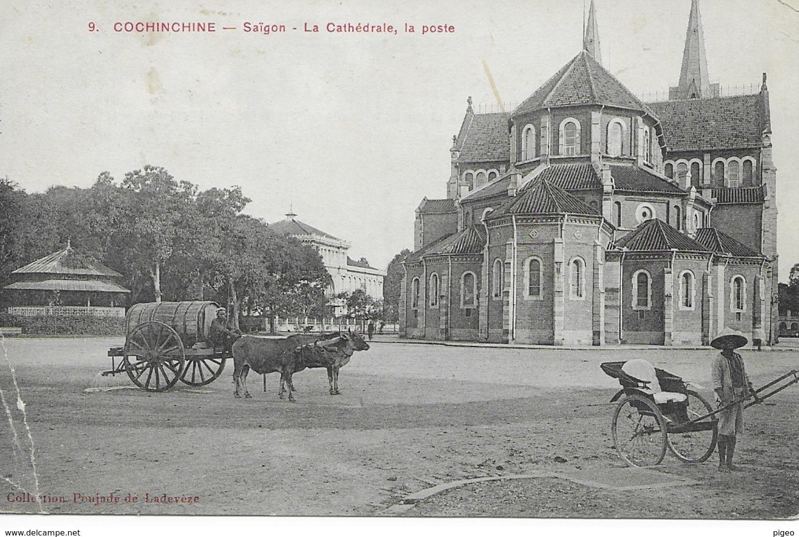 COCHINCHINE  -  SAIGON  - Cathédrale - Poste - Viêt-Nam