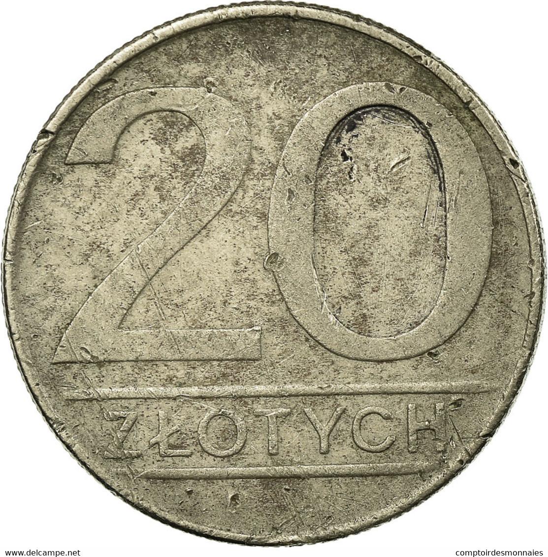 Monnaie, Pologne, 20 Zlotych, 1987, Warsaw, TB, Copper-nickel, KM:153.1 - Pologne