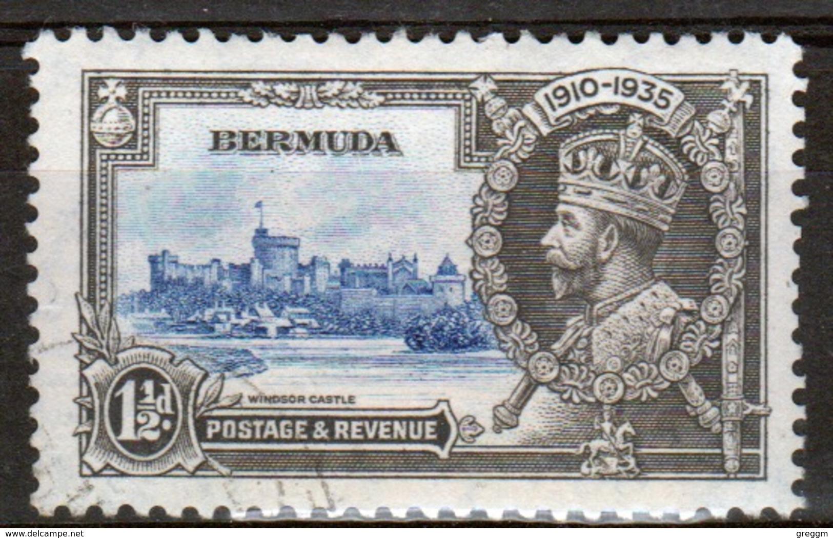 Bermuda George V 1½d Single Stamp From The 1935 Silver Jubilee Set. - Bermuda