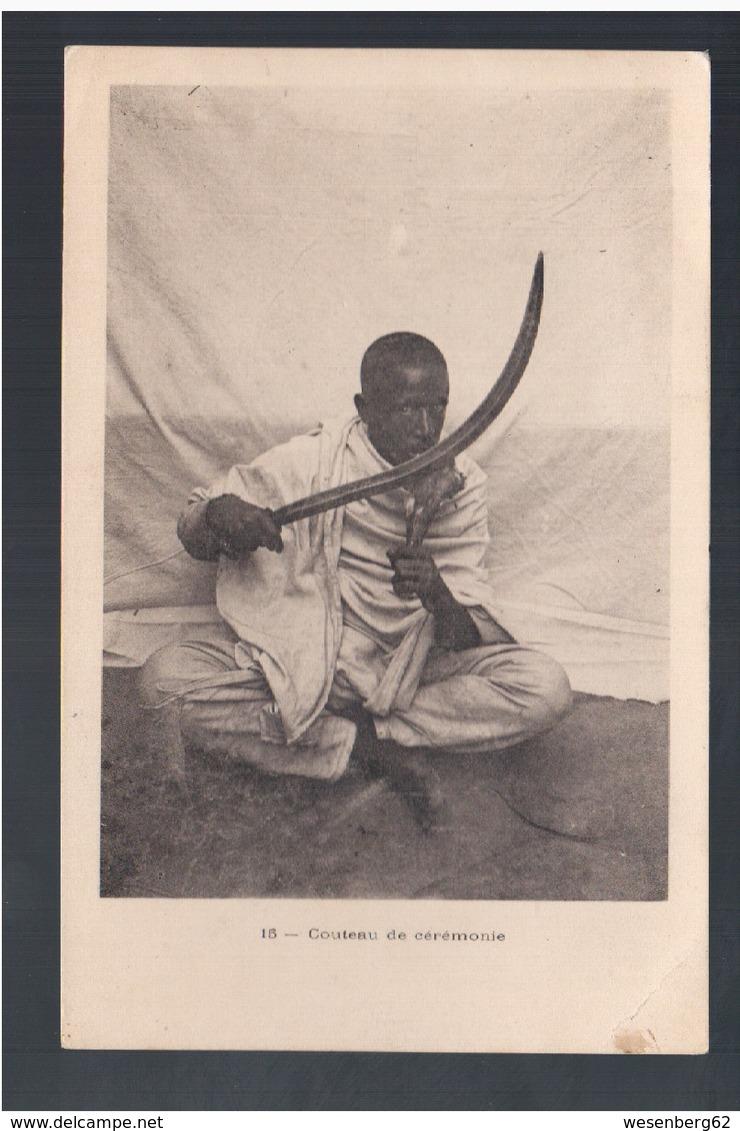ETHIOPIE Couteau De Cérémonie Ca 1910 OLD  POSTCARD - Ethiopia