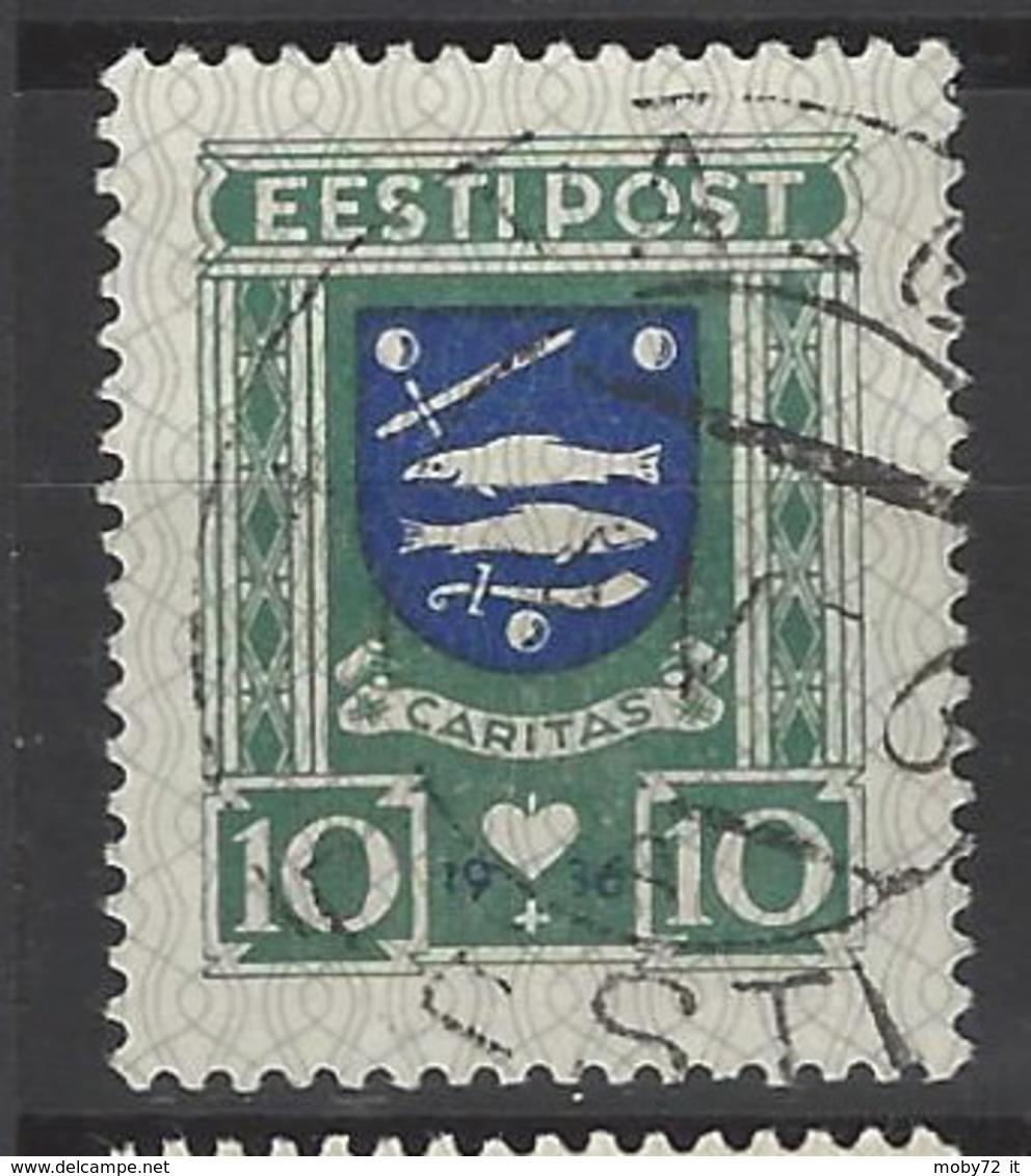 Estonia - 1936 - Usato/used - Stemmi - Mi N. 109 - Estland