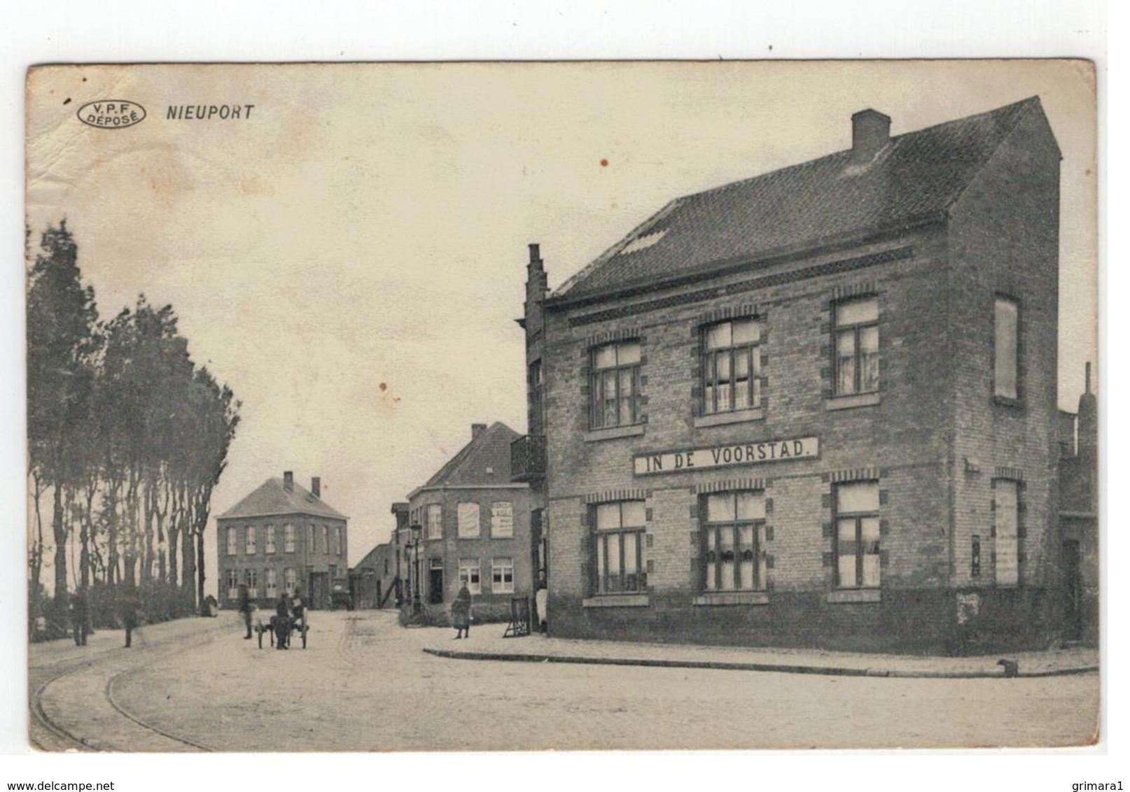 Nieuwpoort  NIEUPORT  IN DE VOORSTAD 1914. - Nieuwpoort