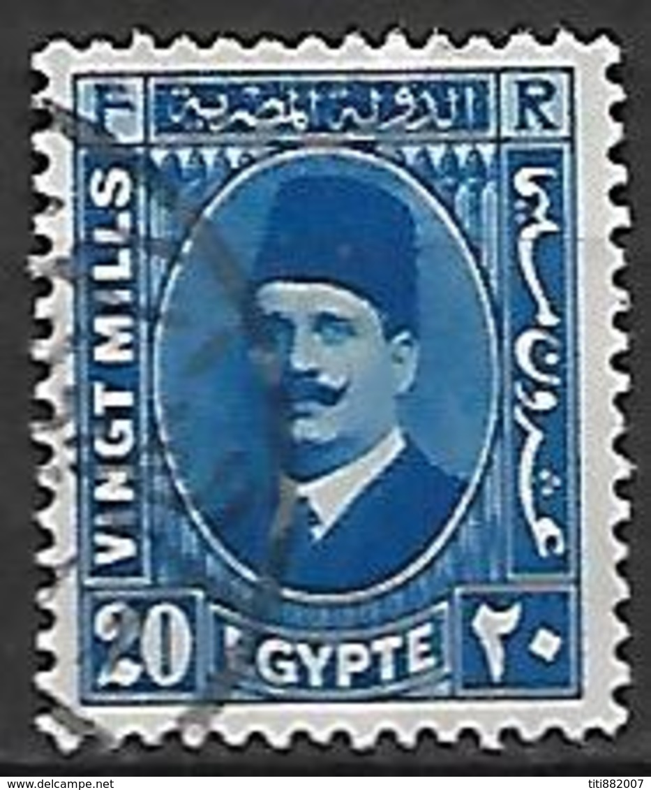 EGYPTE    -    1934 .  Y&T N° 171 Oblitéré - Egypt