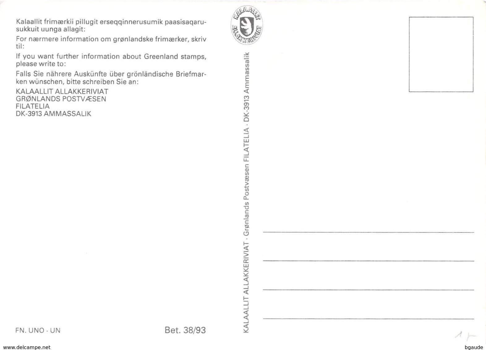 GROENLAND CARTE MAXIMUM  NUM.Yvert 218 LES PEUPLES INDIGENES - Cartes-Maximum (CM)