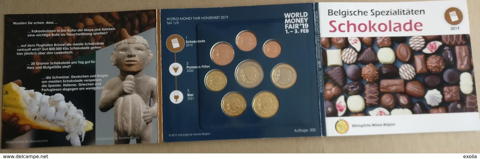 BU BELGIQUE 2019 CHOCOLAT WORLD MONEY FAIR BERLIN 500 EXEMPLAIRES TRES TRES RARE Lire Description Complète !!! - Belgique