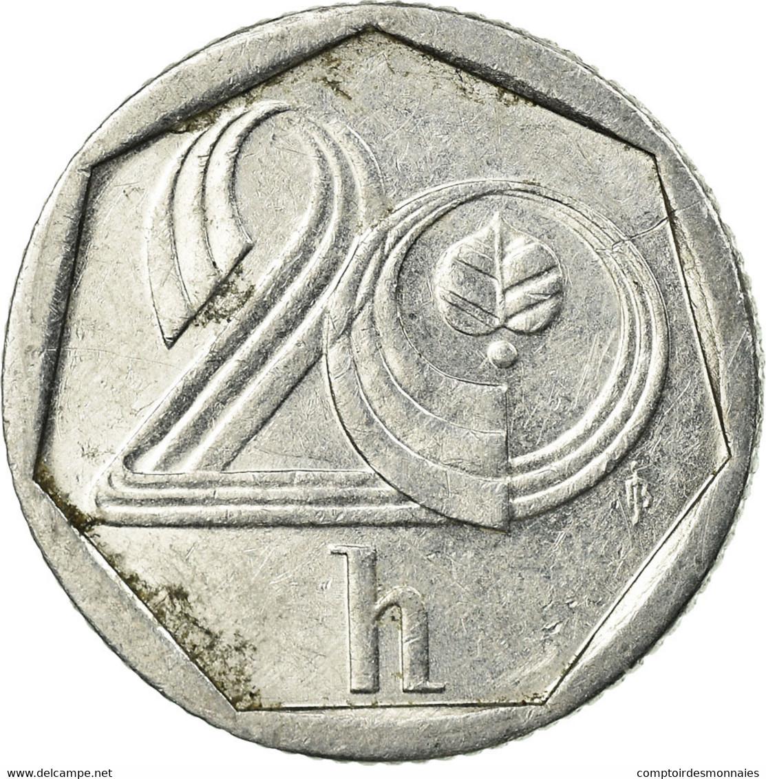 Monnaie, République Tchèque, 20 Haleru, 1993, TTB, Aluminium, KM:2.1 - Tchéquie