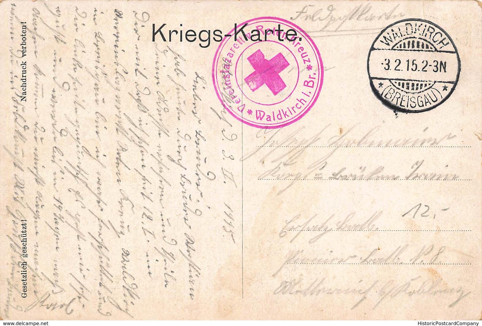 DEUTSCHES REICH-KAISER WILHELM II-KIAUTSCHAU-TSINGTAU-KOLONIE-CHINA-1915 WW1 FELDPOST POSTCARD 40467 - War 1914-18