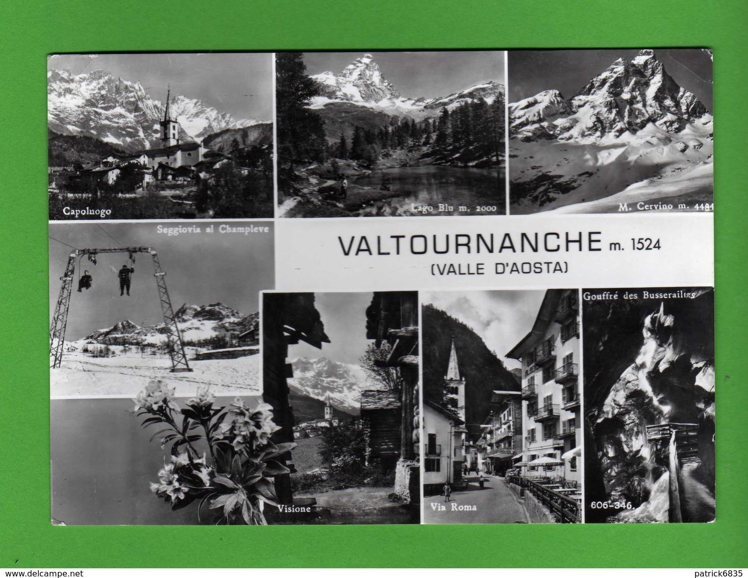Valle D'Aosta - VALTOURNANCHE Vedute.  Viaggiata 1961.  Vedi Descrizione - Italia