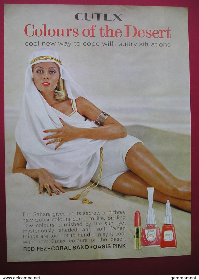 CUTEX NAIL VARNISH/LIPSTICK.  0RIGINAL 1964 MAGAZINE ADVERT - Other