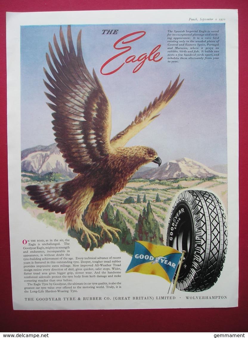 GOODYEAR TYRES. SPANISH IMPERIAL EAGLE . 0RIGINAL 1950 MAGAZINE ADVERT - Advertising