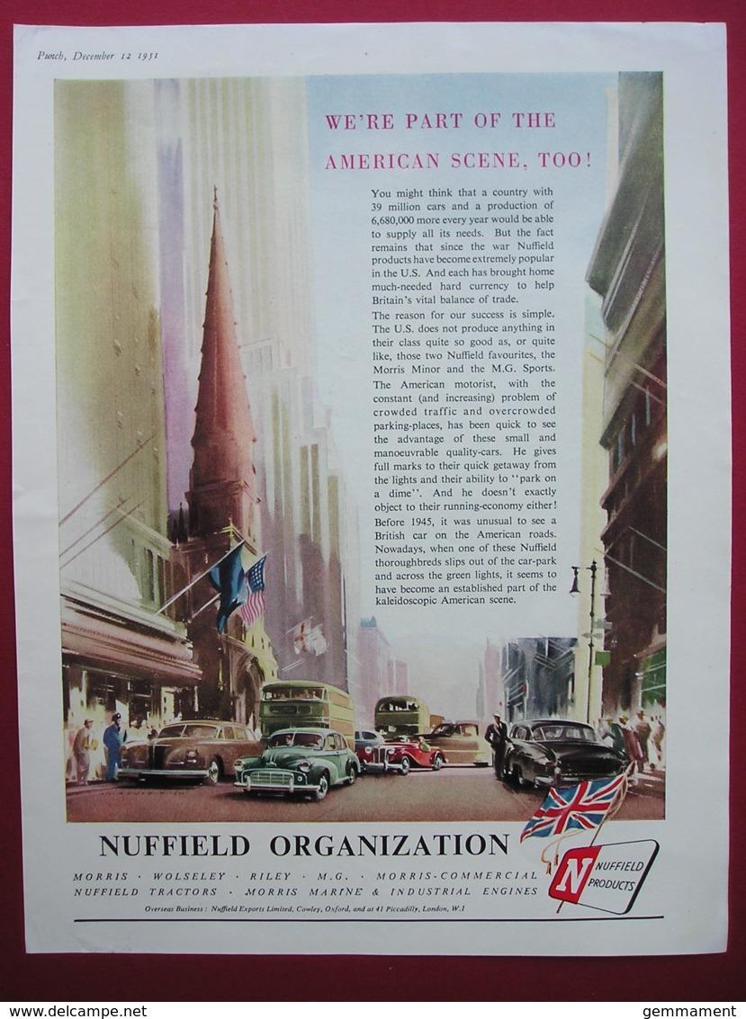 NUFFIELD ORGANISATION . 0RIGINAL 1951 MAGAZINE ADVERT - Other