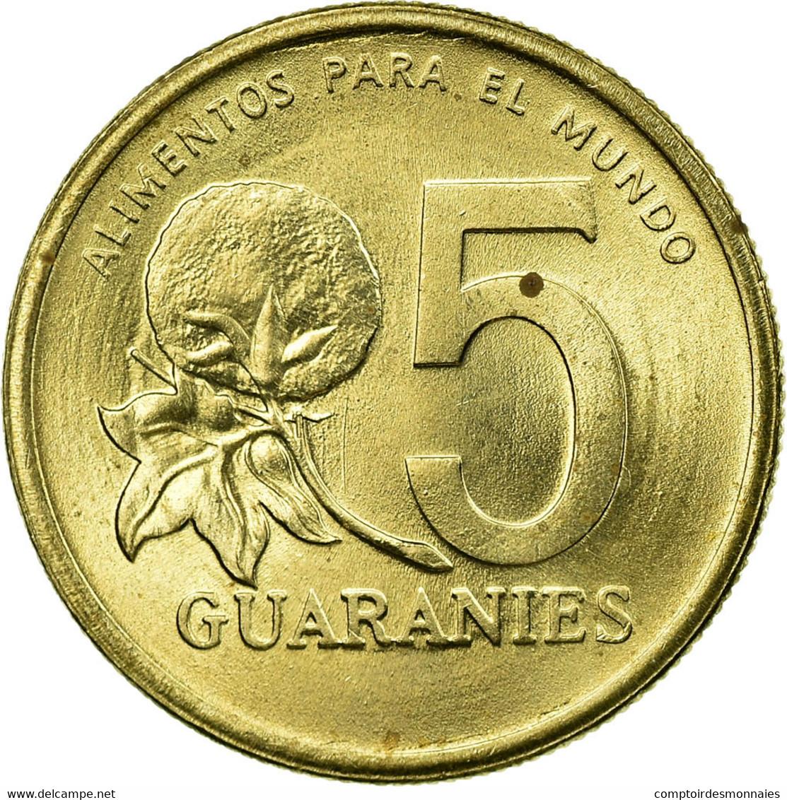 Monnaie, Paraguay, 5 Guaranies, 1992, TTB, Nickel-Bronze, KM:166a - Paraguay