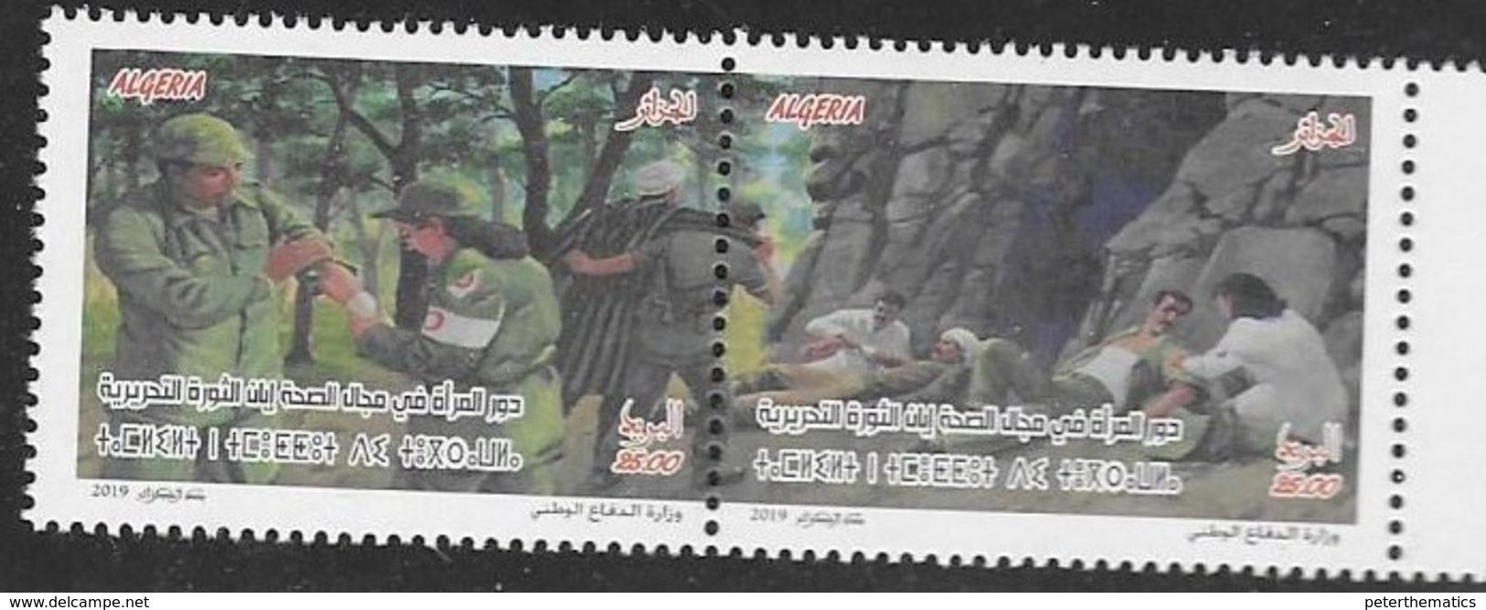 ALGERIA, 2019, MNH , WOMEN NURSES, ALGERIAN WAR, 2v - Health