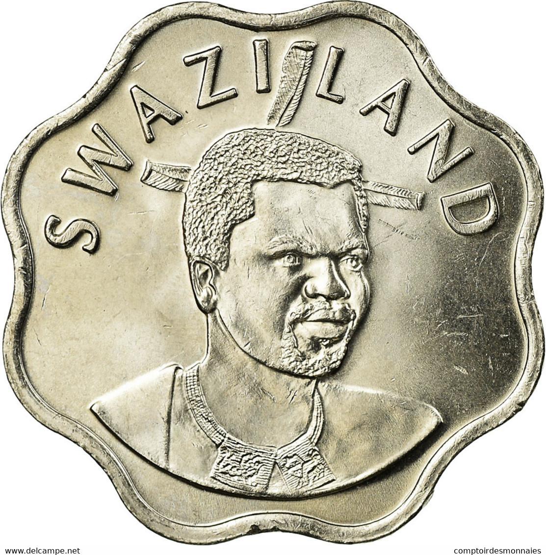 Monnaie, Swaziland, King Msawati III, 10 Cents, 2005, British Royal Mint, TTB - Swaziland