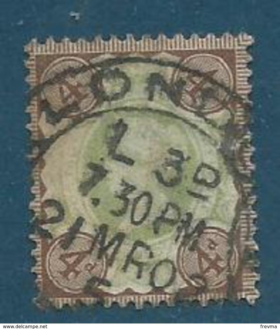 Grande Bretagne 1887-1900 Yvt 97 Obliteration London - 1840-1901 (Victoria)