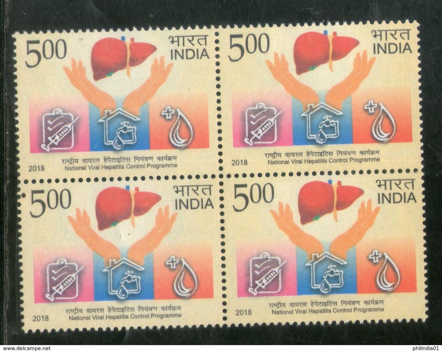 India 2018 National Viral Hepatitis Control Programme Health Vaccine Medicin BLK/4 MNH - Medicine