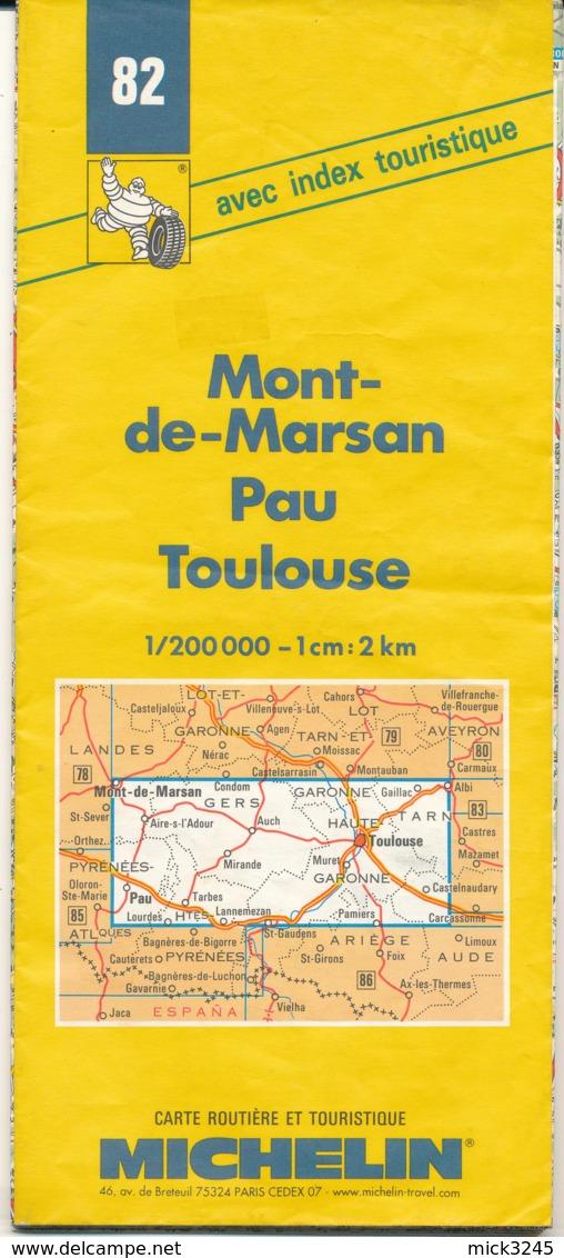 Carte Michelin N°82 Mont-de-Marsan Pau Toulouse 1998/1999 - Cartes Routières