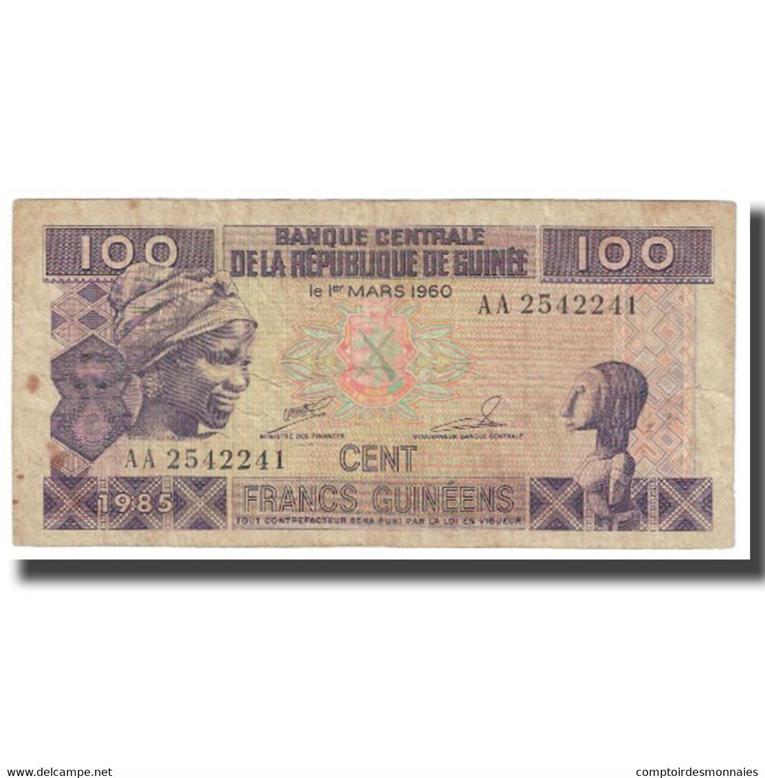 Billet, Guinea, 100 Francs, 1960, 1960-03-01, KM:30a, TB - Guinea