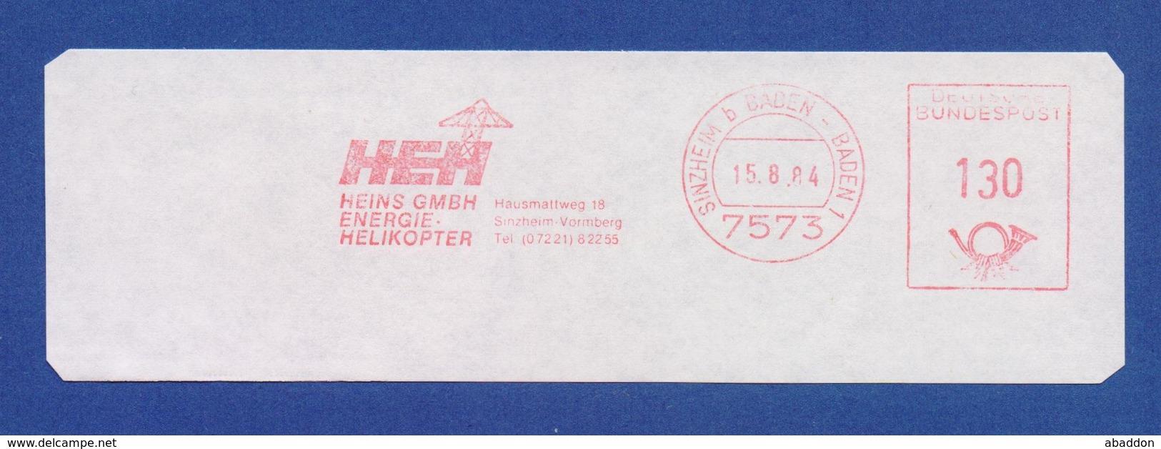 BRD AFS - SINZHEIM, HEH Heins GmbH - Energie Helikopter 1984 - BRD