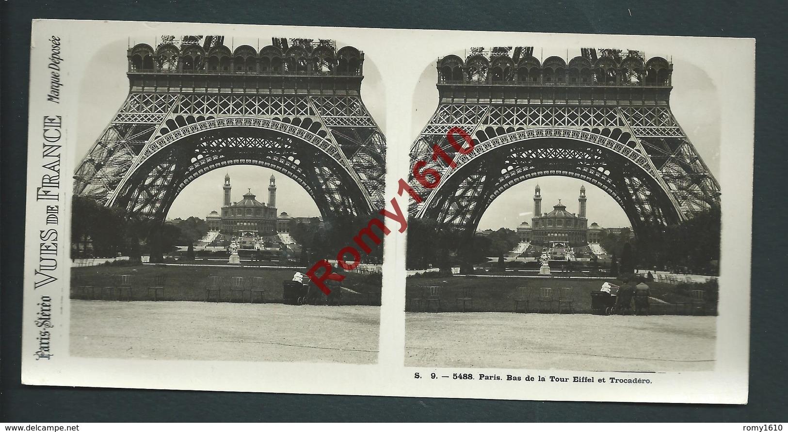 France 75 Paris. Lot 12 Vues Stéréoscopiques. Série N°9. Complète. Édition: Paris-Stéréo. Photos En Excellent état. - Stereoscopic