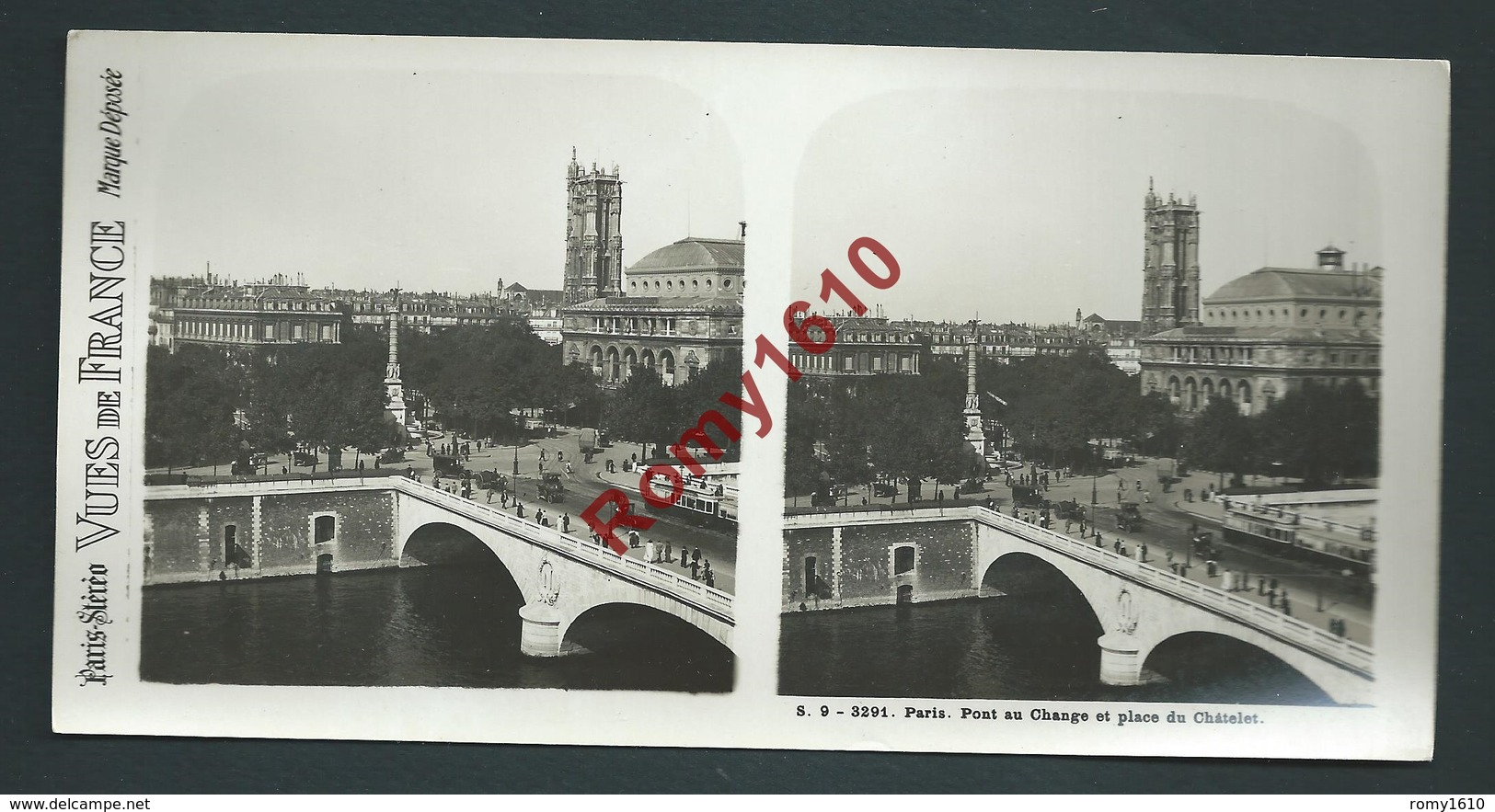 France 75 Paris. Lot 12 Vues Stéréoscopiques. Série N°9. Complète. Édition: Paris-Stéréo. Photos En Excellent état. - Photos Stéréoscopiques