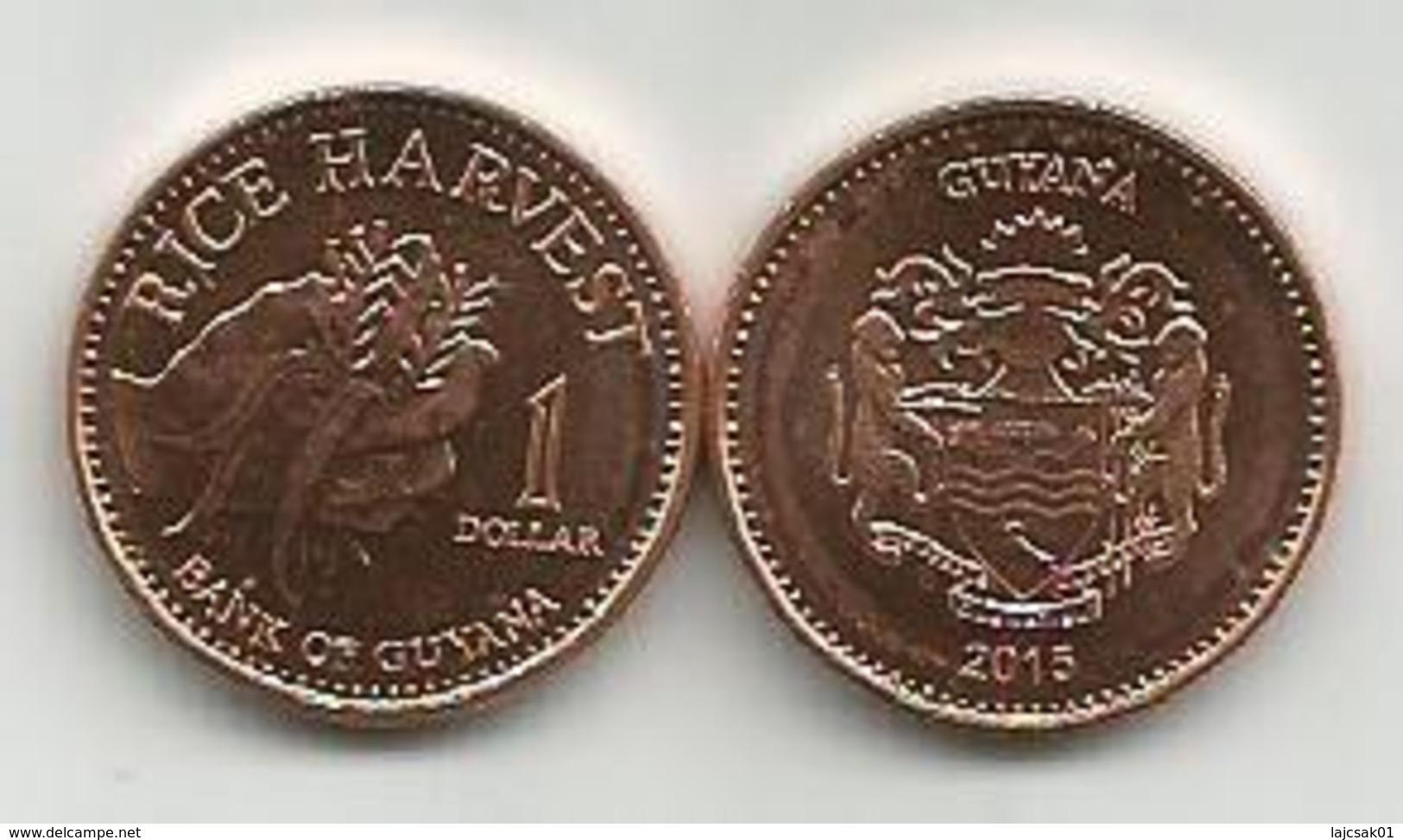 Guyana 1 Dollar 2015. High Grade - Guyana
