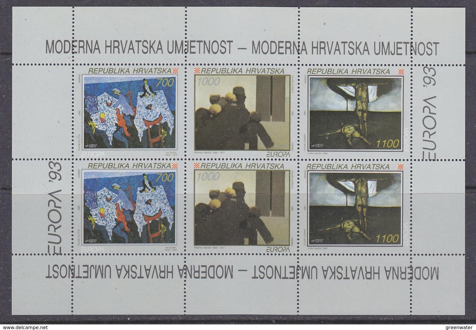 Europa Cept 1993 Croatia 2x3v In Sheetlet ** Mnh (42604) ROCK BOTTOM PRICE - 1993