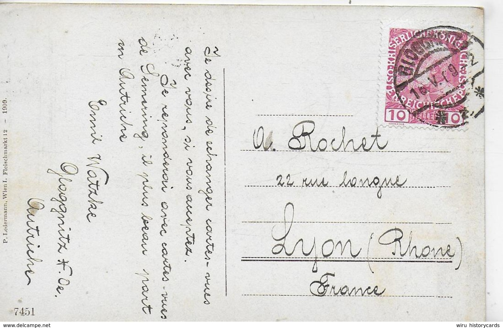 AK 0229  Semmering - Klamm Und Kirche Mit Sonnwendstein / Verlag Ledermann Um 1909 - Semmering