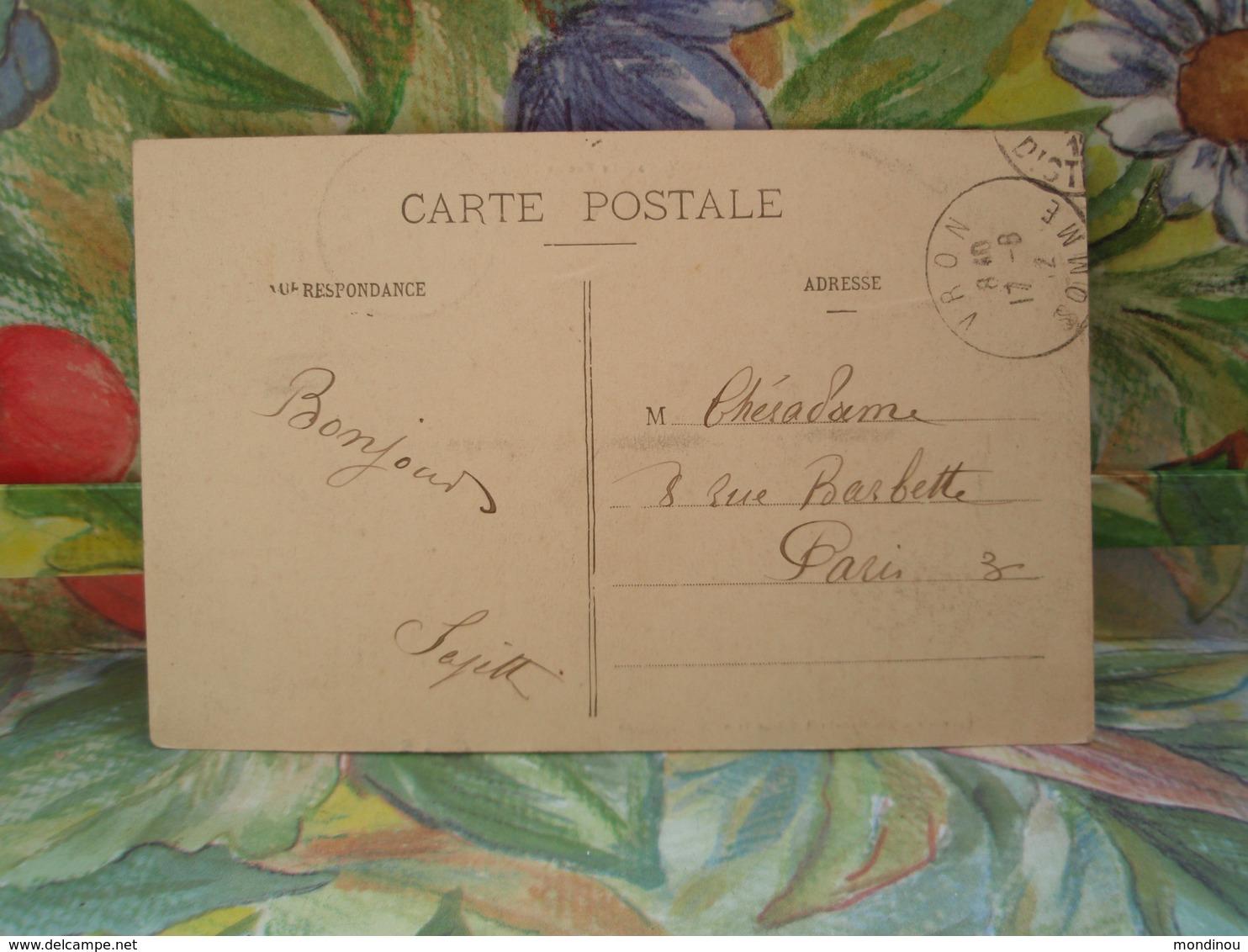 VRON La Rue De L'Eglise.1912 - Autres Communes
