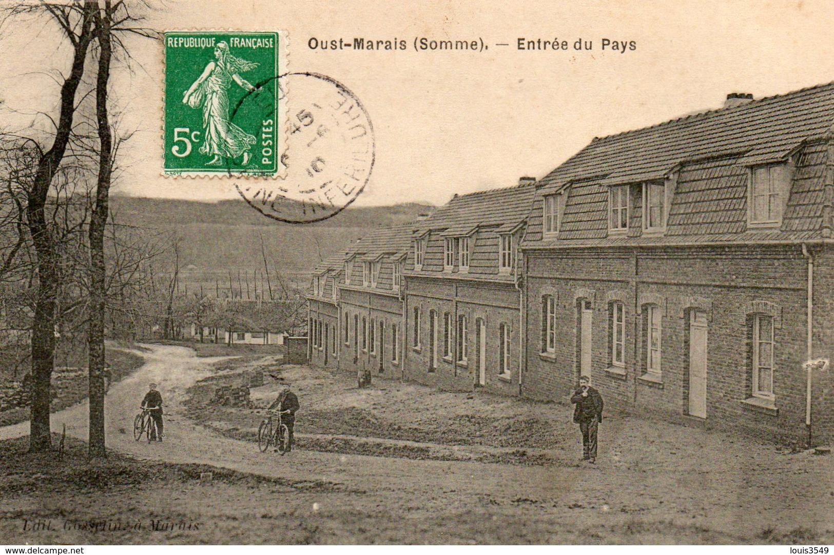 Oust - Marais -    Entrée  Du  Pays. - France