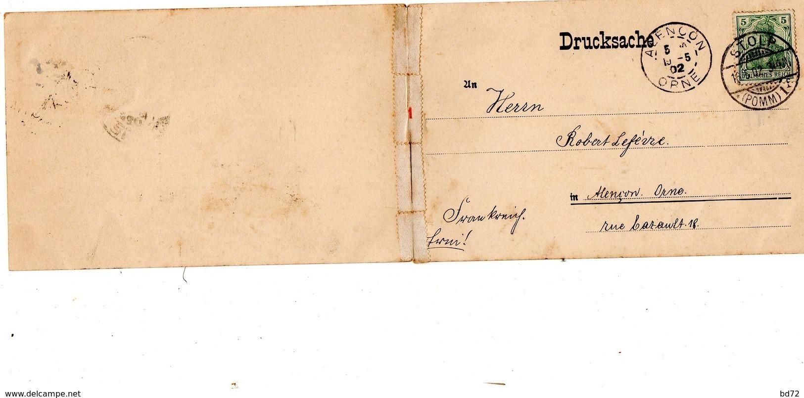 GRUSS AUS STOLP  ( SLUPSK ), écrite En 1902 - Pologne