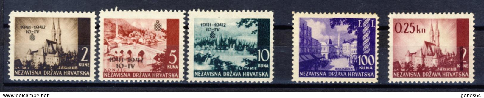 1942 - Croazia Indipendente - Lotto Di 3 Emissioni - Nuovi MNH** E MLH* - Kroatien