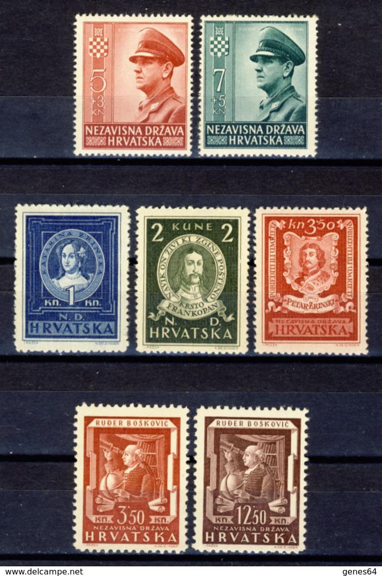1943 - Croazia Indipendente - Lotto Di 3 Emissioni - Nuovi MNH** - Kroatien