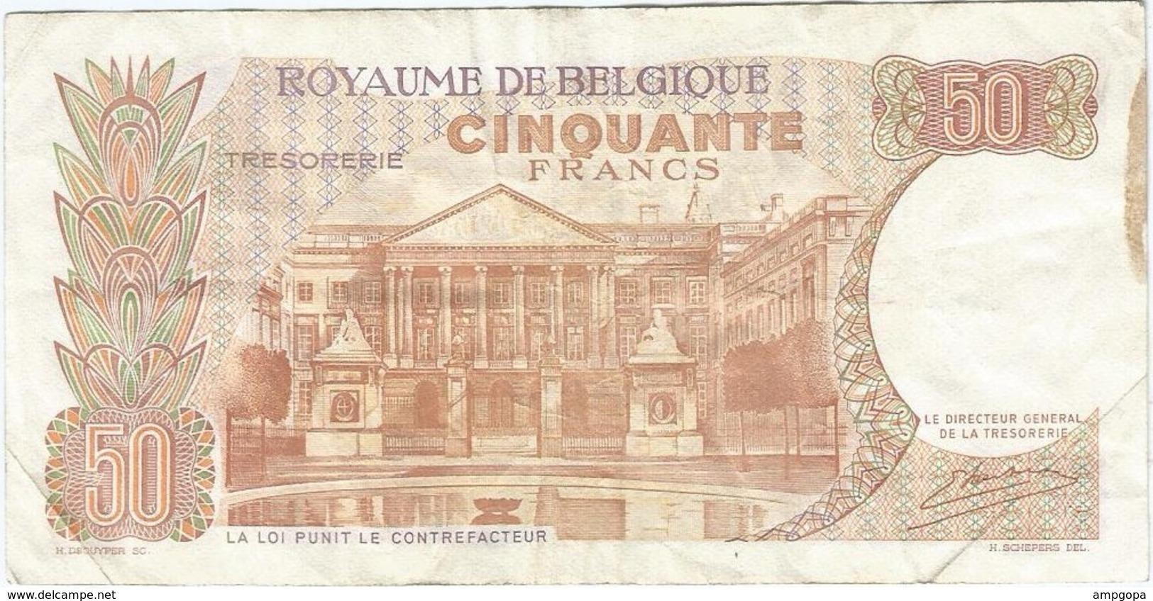 Bélgica - Belgium 50 Francs 16-5-1966 Pk 139 3 Firma Kestens Ref 154-6 - Otros